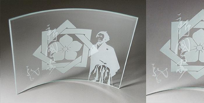 ブラスト工芸|ガラスフレーム 龍馬30|レニオンコーポレション|高知
