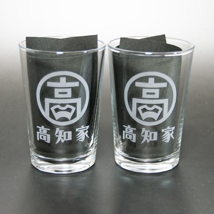 ブラスト工芸|高知家グラス 丸小クリア|レニオンコーポレション|高知