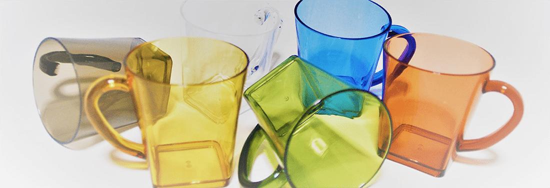ブラスト工芸|コップの色は、黒・黄色・緑・クリア・青・赤から選べます|レニオンコーポレション|高知